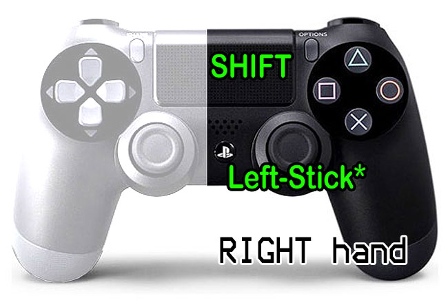 A right-hand PS4 controller made one-handed play.