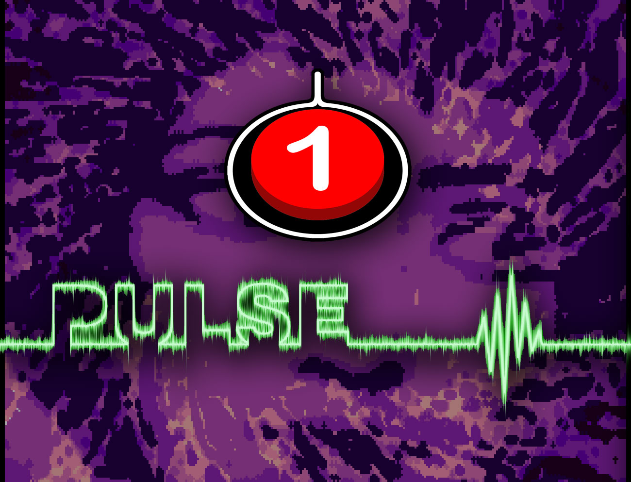 One Switch logo. Pulse logo. Behind a Woman looking right in a purple swirl.