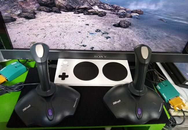 Two budget Xbox Adaptive Controller joysticks