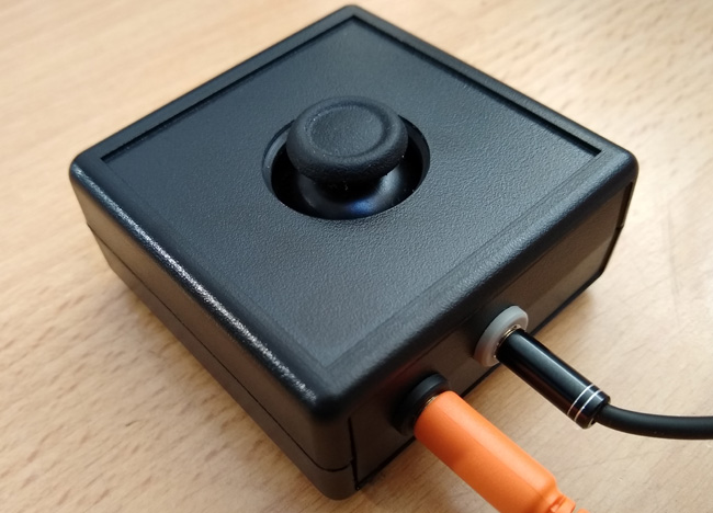 Xbox Adaptive Controller Mini Joystick: Small thumbstick in a small black box. By OneSwitch.org.uk