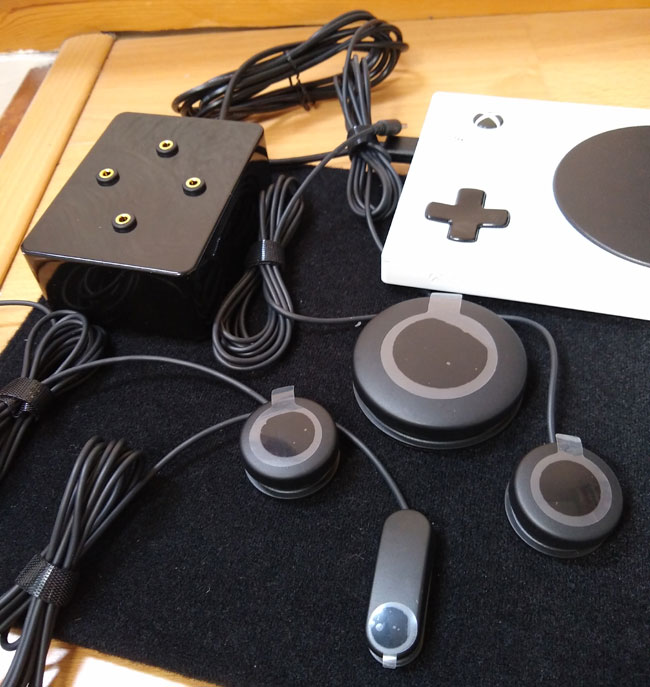 Xbox Adaptive Controller with Zik Zak heavy duty joystick.