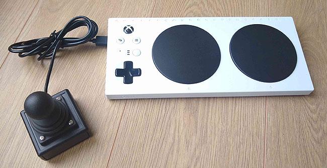 Xbox Adaptive Controller with Zik Zak heavy duty joystick.