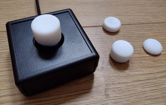 Rubber white tops for a XAC mini joystick