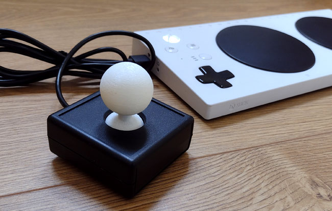 White squidgy ball top for a XAC joystick.