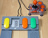 Image of Large Pedals and Joystick for USB connection.