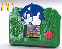 Image of a small Sonic the Hedgehog LCD handheld game.