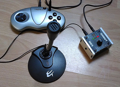 Shout Box with microphone and (not supplied) switch interface.