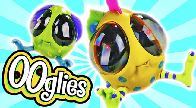 OOglies crazy toys in various designs. Huge eyes, colourful bodies and big feet.