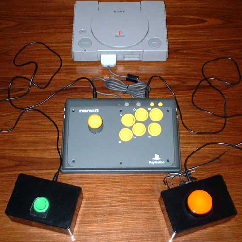 Playstation with switch adapted Namco Arcade Stick