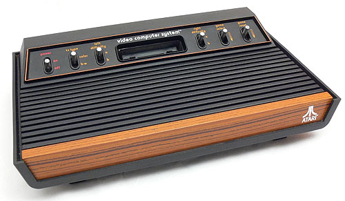 Image of an Atari VCS games console. The woodgrain is good!
