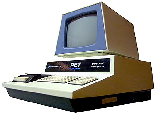 Image of a 1977 Commodore PET personal computer.