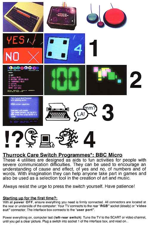 BBC Micro - Thurrock Care Switch Programmes.