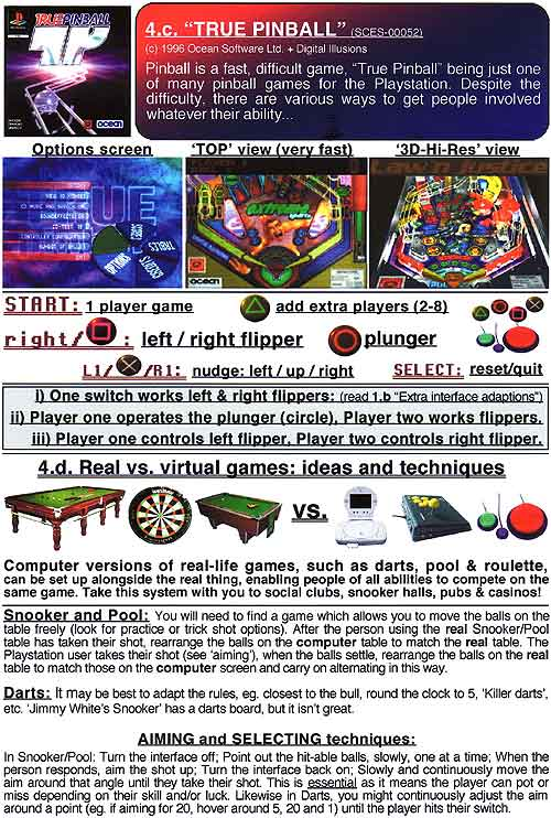 4. Switch accessible pinball and Real vs. Virtual games ideas - (page 15 of 16).