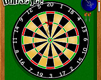 Dartboard one-switch / one-button accessible video game.