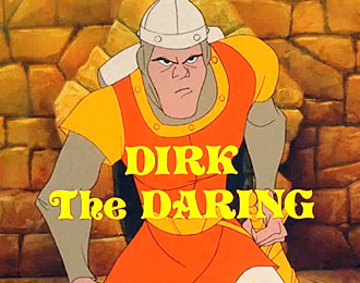 Dirk the Daring cartoon figure.