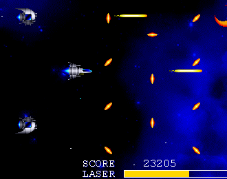 Side viewed shoot-em-up.