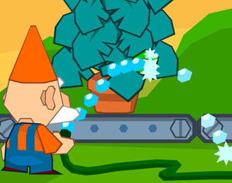 Garden Gnome watering a plant.