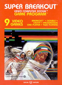 "Super Breakout (1981)  for the Atari VCS. First ""Special Feature"" game."