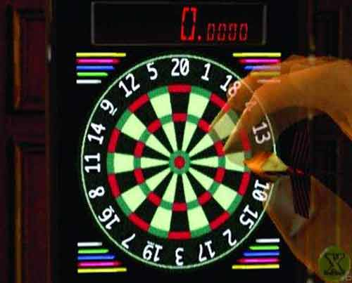 One Switch Ideas - Image of a dartboard taken from one-switch accessible mini-game Shenmue Darts on the Dreamcast.