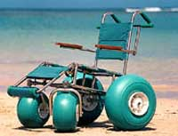 Landeez All-Terrain wheelchair. Click for more...