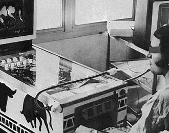 El Toro pinball being played using sip-puff in 1972 or 1973.