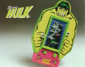 Bandai Incredible Hulk hand-held LED game.